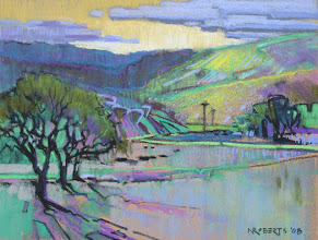 Photo: Vaqueros Spring, pastel by Nancy Roberts, copyright 2014. Private collection.