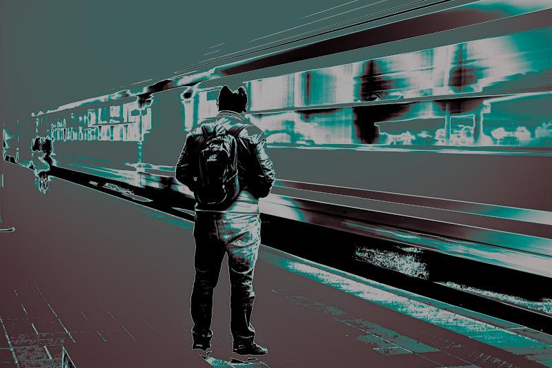 Aspettando il treno giusto. di marinafranzone