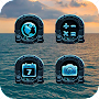 Blue Machinery Technology Icon Pack APK icon