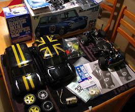Photo: Myydään: Tamiya M03 Mini Cooper + sälät