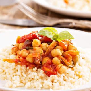 Slow Cooker Mediterranean Chickpeas.