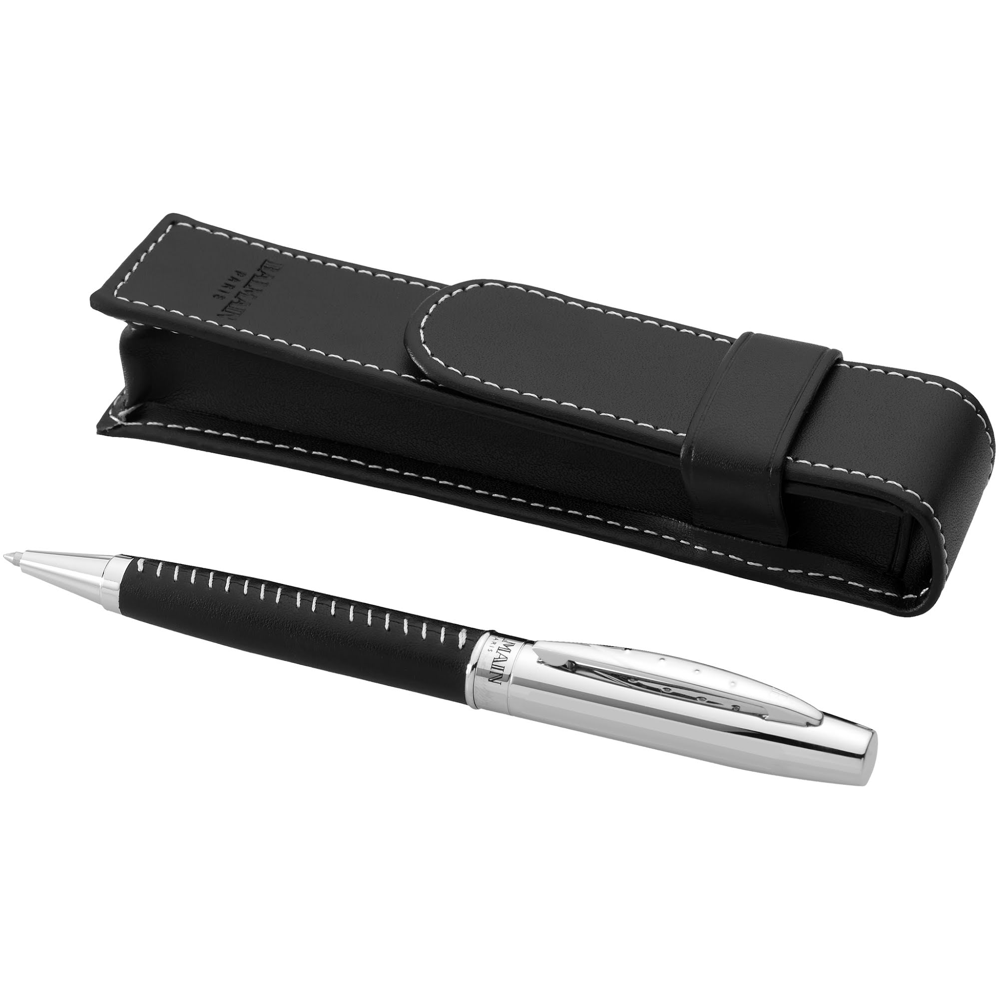 Balmain Leather Ballpoint Pen