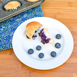 Blueberry Pineapple Angel Food Muffins.