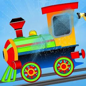 Поезд двигателя Wash: дети игр
