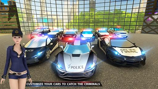 مطاردة سيارة العصابات للشرطة الحقيقية: لقطات شاشة لمحاكاة القيادة 7