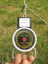 Photo: Vent 15/20km/h. Traction maximum au peson: 3kg