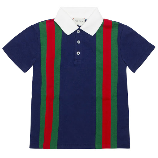 Primary image of Gucci Boys Cotton Striped Polo