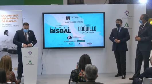 Bisbal y Loquillo actuarán frente al imponente escenario de 40 metros de mármol