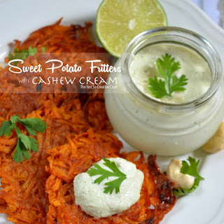 {Whole30} Smoky Sweet Potato Fritters with Cashew Cream.