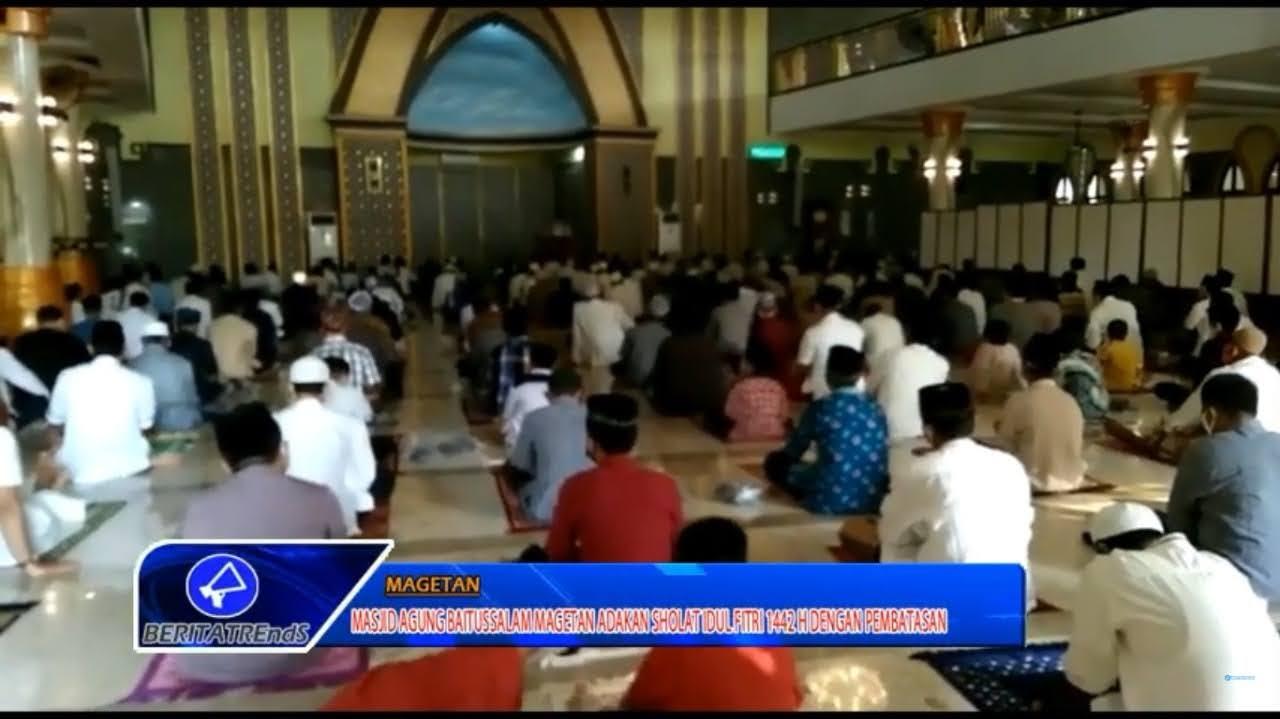 Masjid Agung Baitussalam Adakan Sholat Idul Fitri 1442 H Dengan Pembatasan 50 Persen Dari Kapasitas Normal