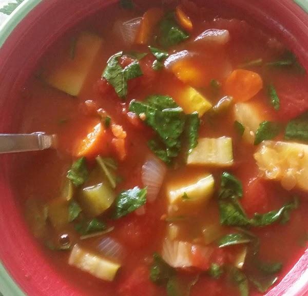 Mertzie's Tomato Veggie Power Soup Recipe