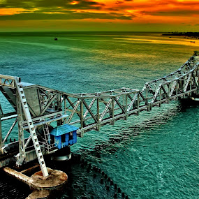 A bridge to the Heaven by Anoop Namboothiri - Digital Art Places ( sky, bridge,  )