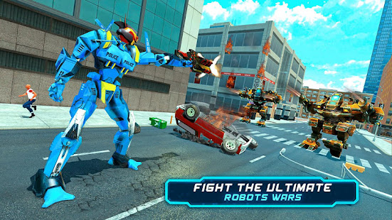 Police Robot Car Rampage: New robot shooting Games App Ranking and