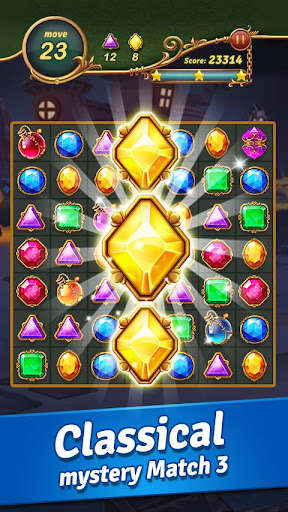Jewel Castle™ - Classical Match 3 Puzzles apklade screenshots 1