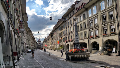Photo: The superb Kramgasse ended by the famous Zytglogge