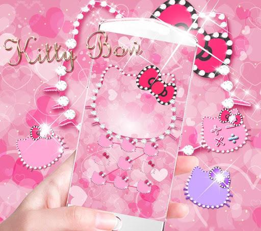 Pink Kitty Diamond Theme for PC