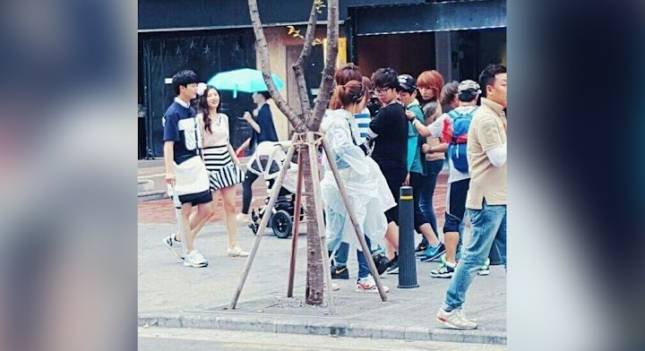 Sungjae and Joy caught filming for