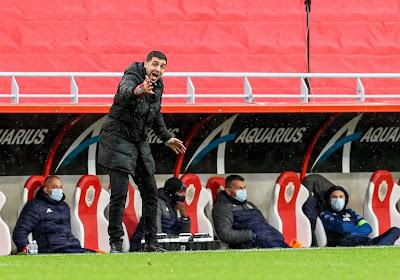 Karim Belhocine et Steeven Willems déçus après la défaite de Charleroi à Anvers