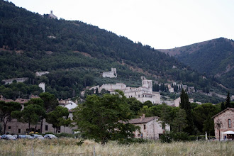 Photo: Италия, город Губбио. Вид на старый город.