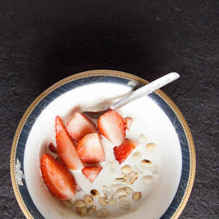 Instant Whipped Cream and Berries.