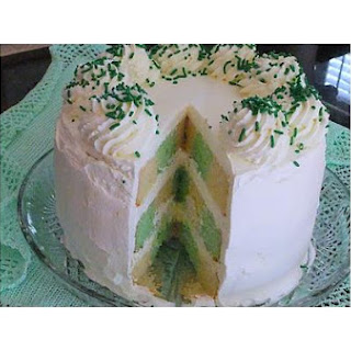 """Tis A Touch Of The Irish"" Checkerboard Cake"
