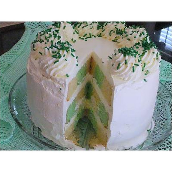 """""""Tis A Touch Of The Irish"""" Checkerboard Cake"""