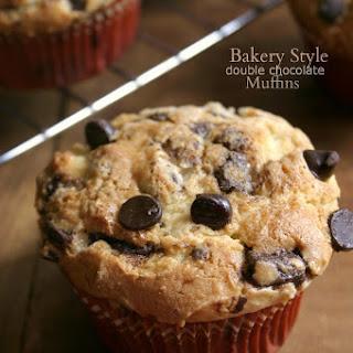 Bakery Style Double Chocolate Muffins {with Greek yogurt}.