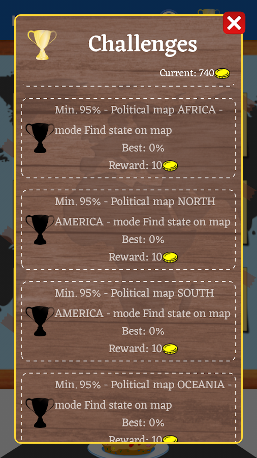 MapPie: geography learning- screenshot