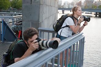 Photo: Shooting across the river