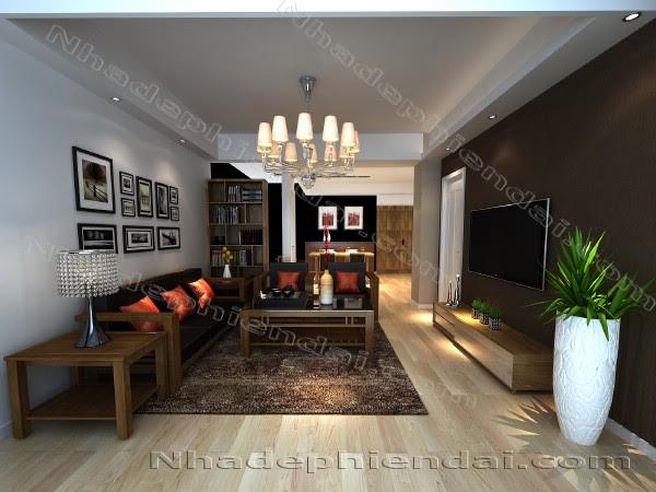 Sắp xếp Bàn ghế gỗ phòng khách ăn nhập phong thủy – NHD3377