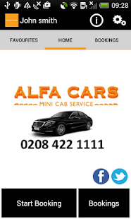 Alfa Cars Minicab London- screenshot thumbnail