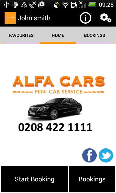 Alfa Cars Minicab London- screenshot