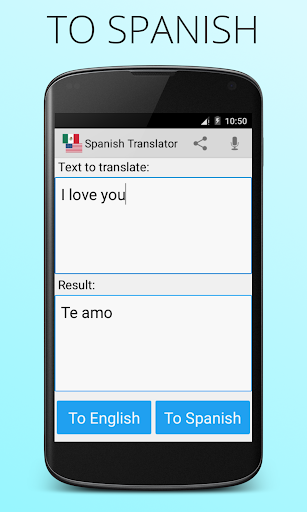 Spanish English Translator Screenshot