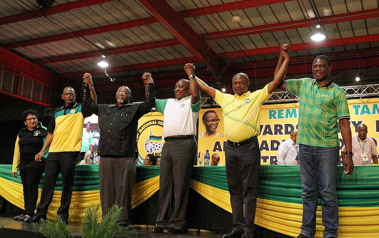 The ANC top six. Picture: SIMPHIWE NKWALI