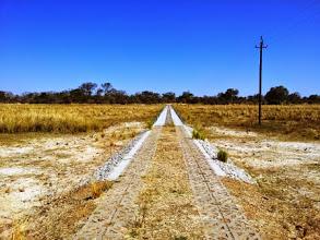 Photo: concrete road fllodplain