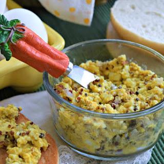 Turmeric Quinoa Egg Salad Spread.