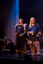 Photo: Gaalan pukuloistoa / Costumes in the Ropecon gala