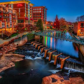 Greenville SC by Charles Hardin - City,  Street & Park  City Parks