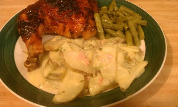 Pictured With Bbq Chicken And Garlic Green Beans.