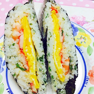 """Onigirazu"" Sushi for Picnic"