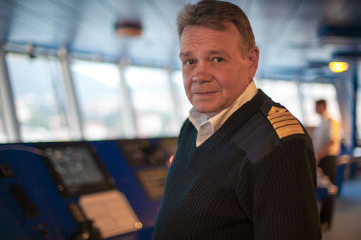 Viking-Star-captain - Captain Atle Hahon Knutsen on the bridge of Viking Star.