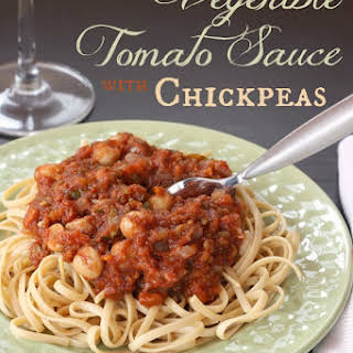 Vegan Vegetable Tomato Sauce with Chickpeas.