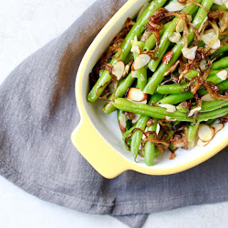 Green Beans Caramelized Onions and Almonds.