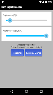Dim Night Mode Screen - Night Mode Pro app for Android screenshot