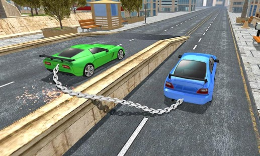 Impossible Chained Cars Match