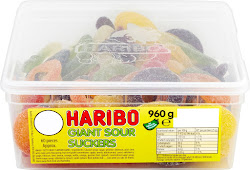 Haribo Giant Sour Suckers Candy - 60pcs, 960g