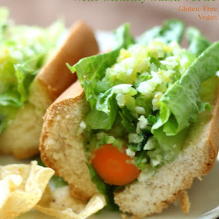 Mexican Carrot Dogs with Chunky Salsa Verde.