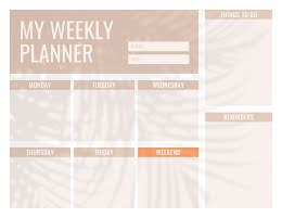 Shadow Weekly To Do - Weekly Planner item