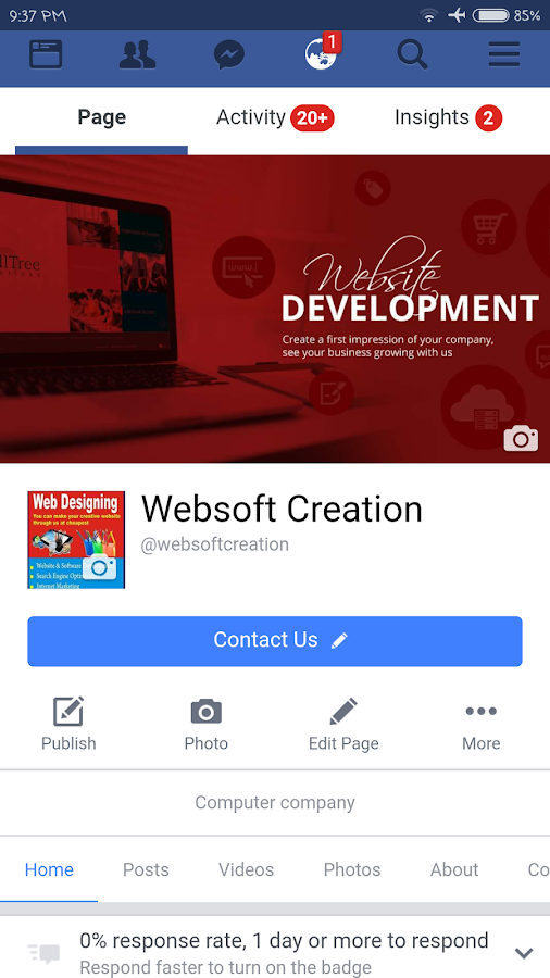 Websoft Creation- screenshot