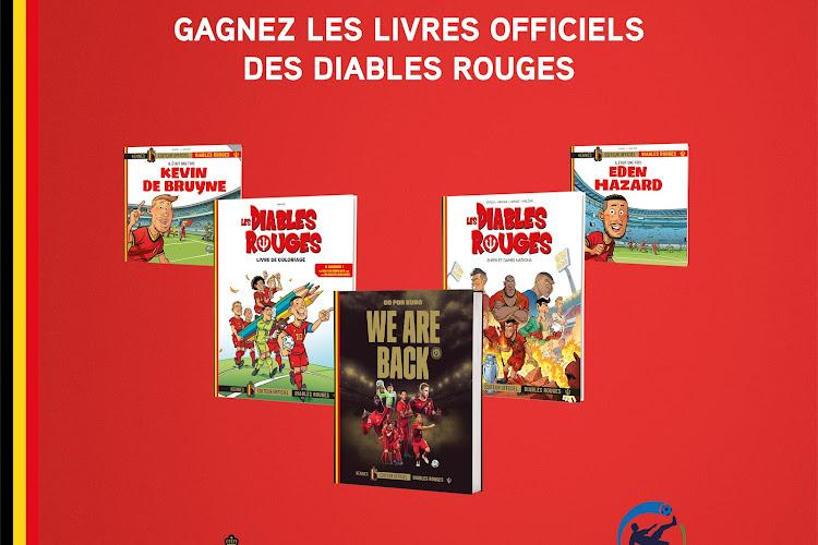Concours : Gagnez cinq livres sur les Diables Rouges grâce aux Éditions Kennes !